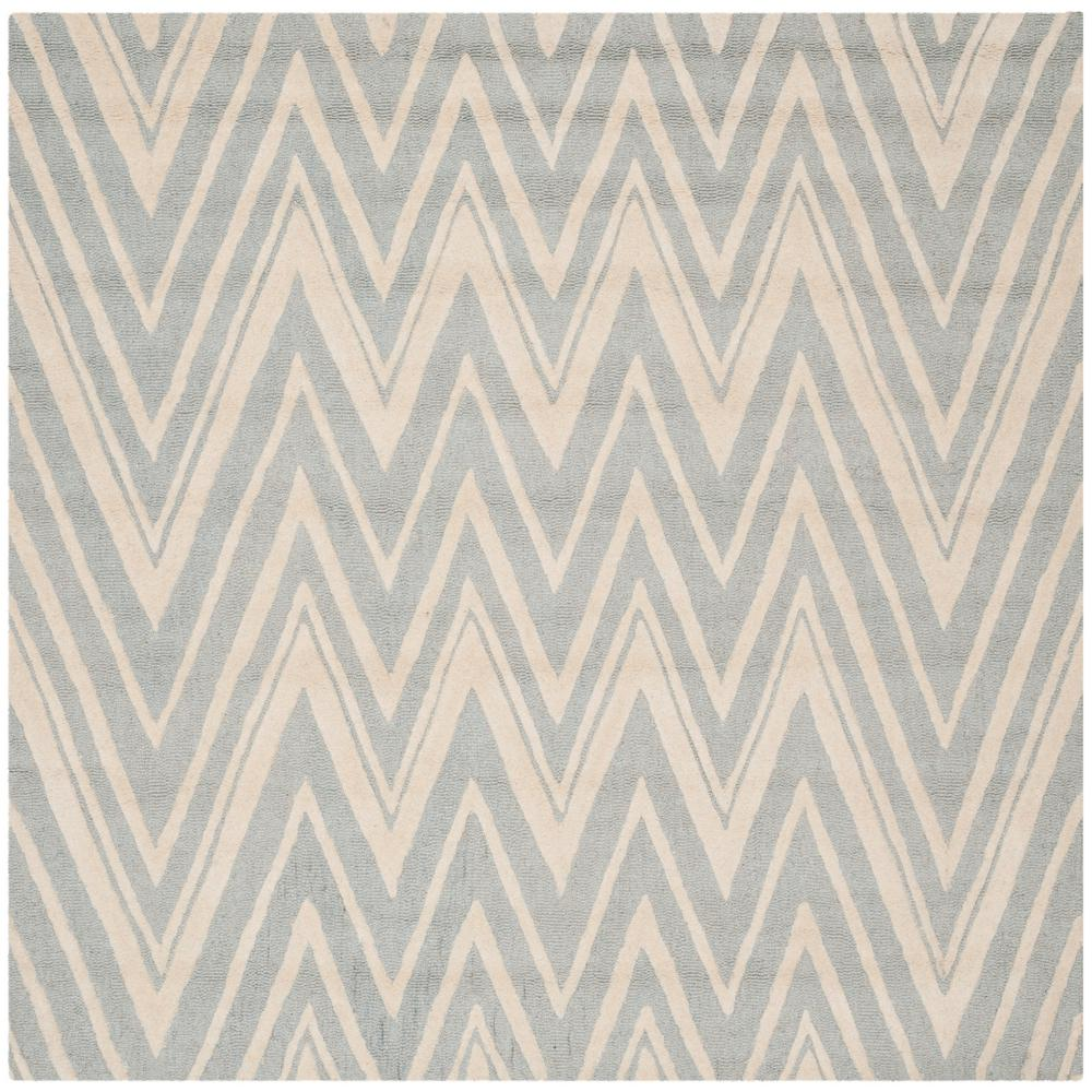 Cambridge Gray/Ivory 8 ft. x 8 ft. Square Area Rug
