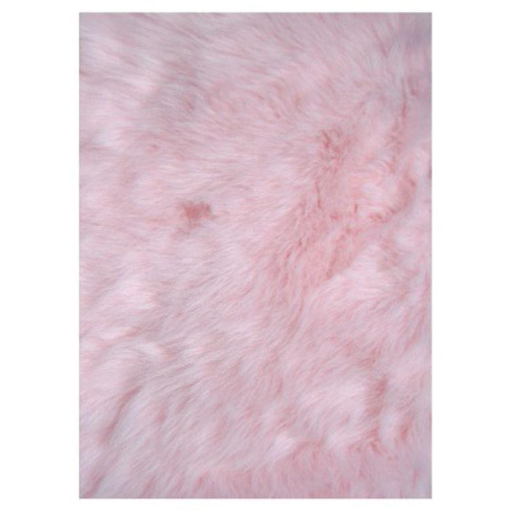 LA Rug Flokati Light Pink 3 Ft. X 5 Ft. Area Rug-FLK 010