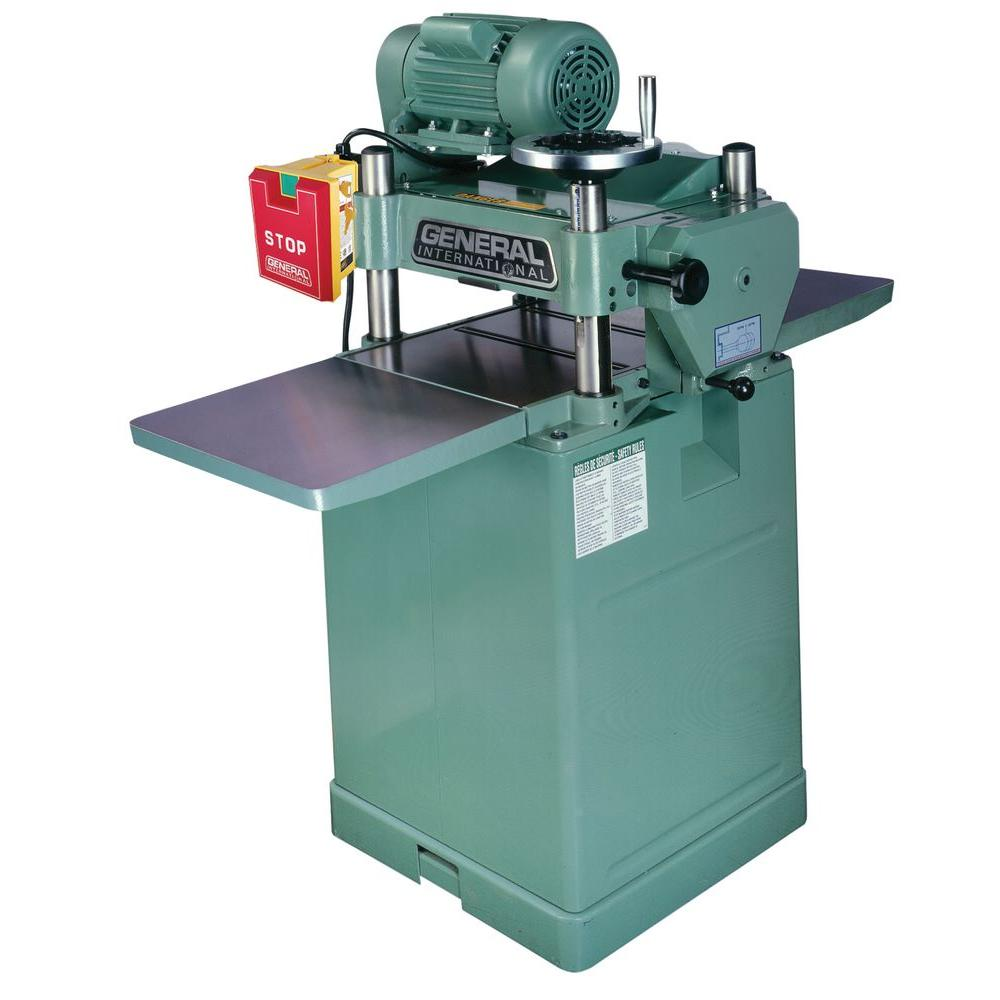General International 15 in. Single Surface Planer with Helical Cutter Head