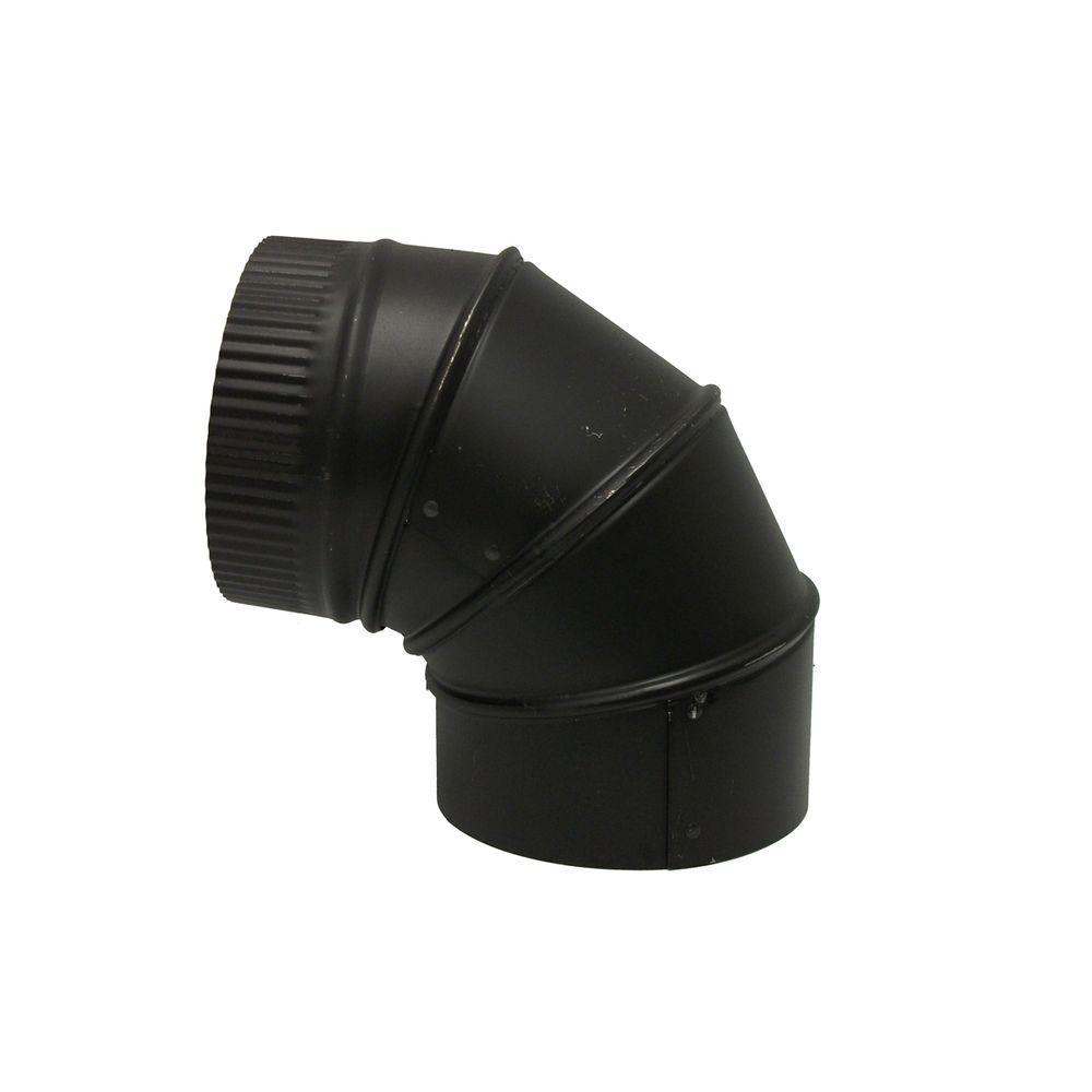 6 in. x 6 in. Black Stove Pipe Elbow