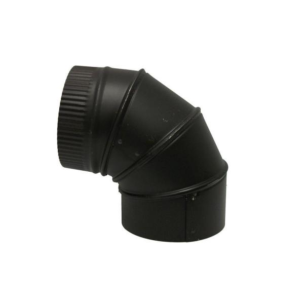 6 in. x 6 in. Black Stove Pipe Elbow