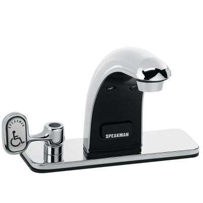 SensorFlo Classic AC-Powered Faucet with 4 in. Deck Plate in Polished Chrome