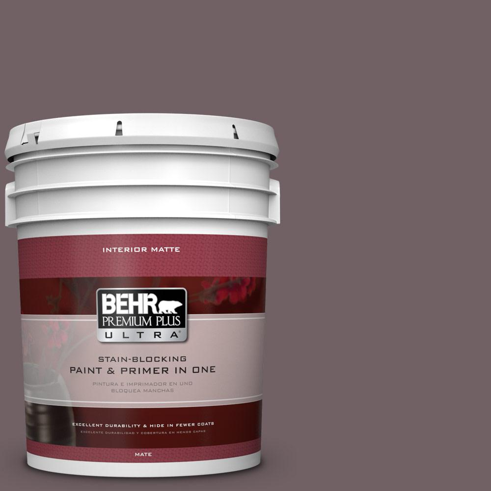 5 gal. #N110-6 Dignified Purple Matte Interior Paint