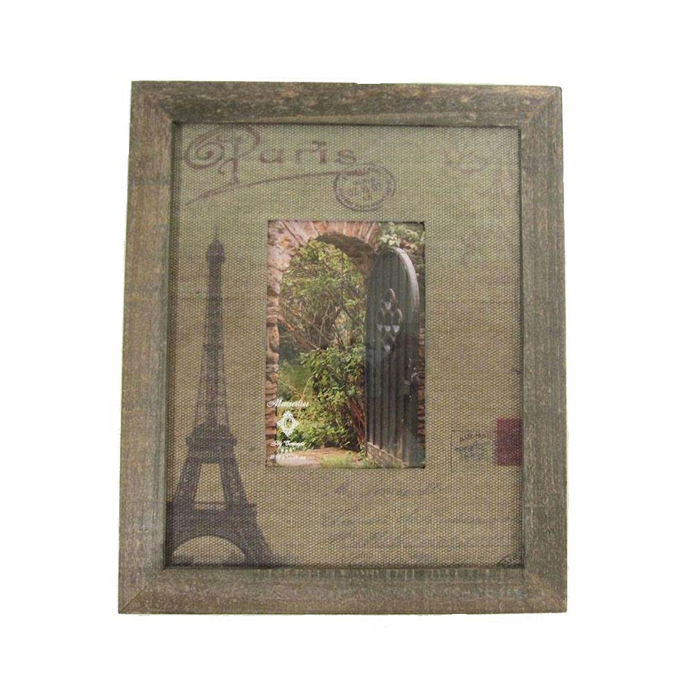 Home Decorators Collection 6 in. W Marseilles Natural Eiffel Tower Collection Frame