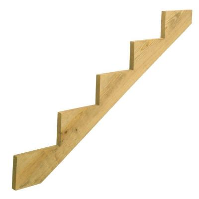 5-Step Ground Contact Pressure-Treated Pine Stair Stringer