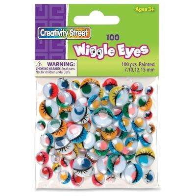 Painted Wiggle Eyes 100/Bag - Assorted