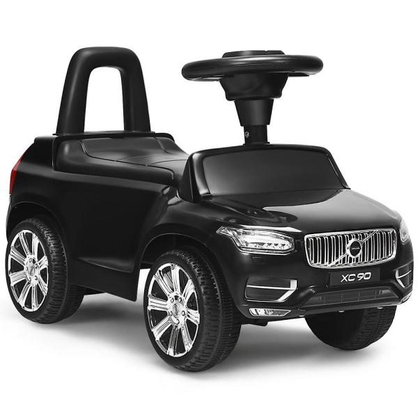 Kids Volvo Licensed Ride On Push Car Toddlers Walker with Horn and Music in Black