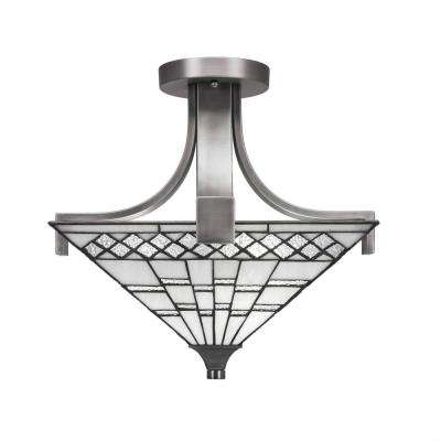 2-Light Graphite Semi-Flush Mount