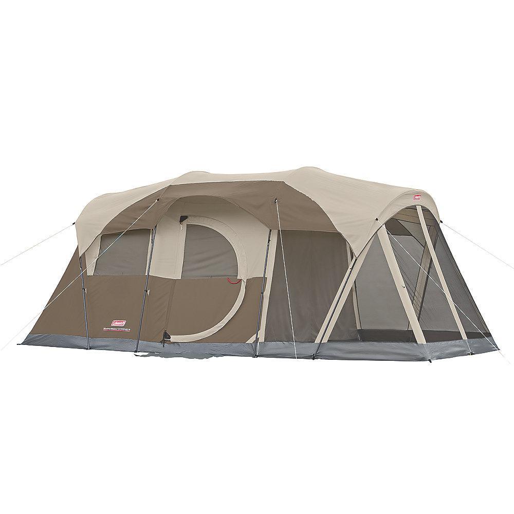 Coleman Weatherproof Sundome Camping Tent With Large Window 2 People Navy Grey