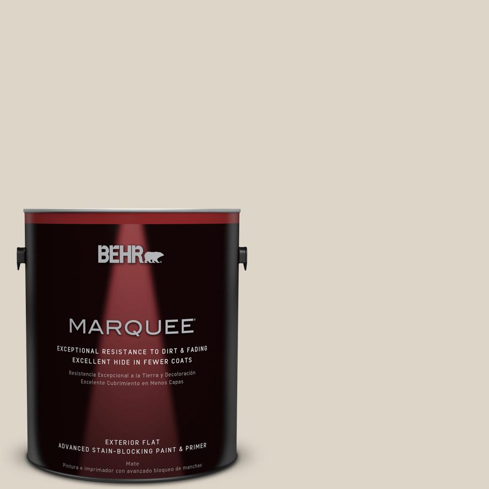 BEHR MARQUEE 1-gal. #720C-2 Chocolate Froth Flat Exterior Paint