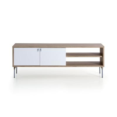 Taos Oak and White Modern TV Stand