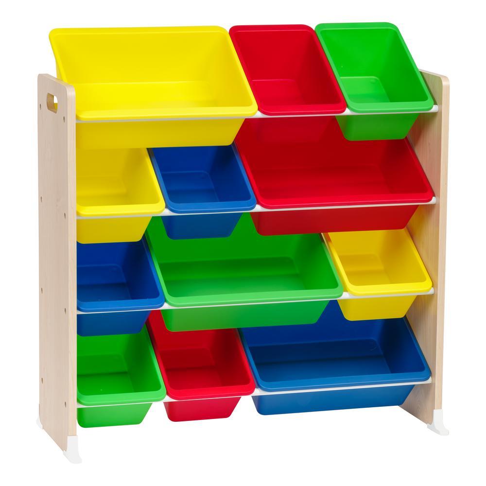 Primary 4-Tier Storage Bin Rack