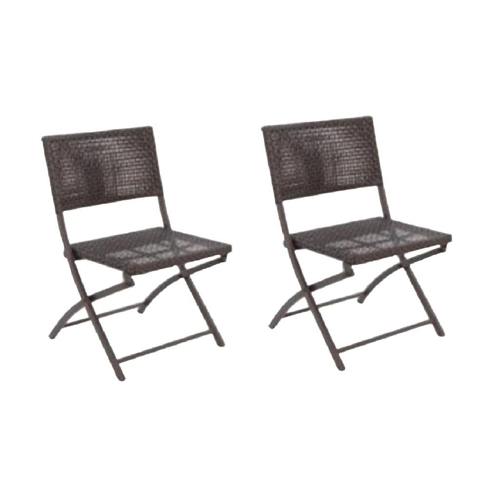Captivating Hampton Bay Fairplay Folding Woven Patio Chair 2 Pack Fds00230d  The Home Depot. Changeablelife Info. Home Depot Hampton Bay Patio Furniture  ...