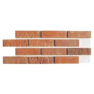 Brickwebb Cordova Thin Brick Sheets - Flats (Box of 5 Sheets) - 28 in x 10.5 in (8.7 sq. ft.)