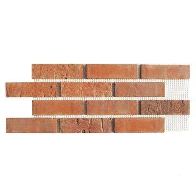 Brickweb Cordova 8.7 sq. ft. 28 in. x 10-1/2 in. x 1/2 in. Clay Thin Brick Flats (Box of 5)
