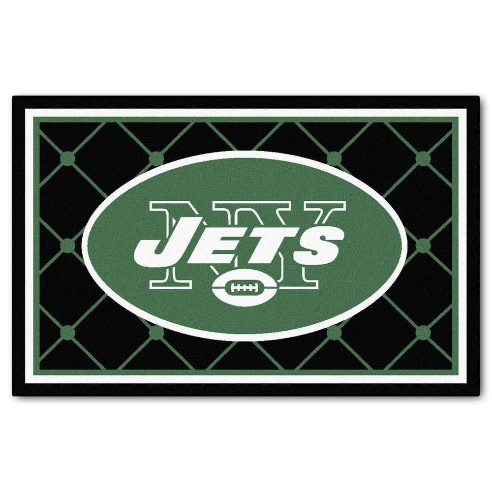 Fanmats New York Jets 4 Ft X 6 Area Rug
