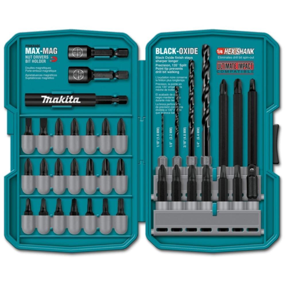 Makita Steel Contractor-Grade Bit Set (38-Piece)