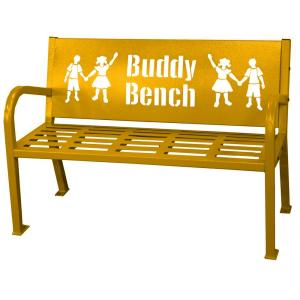 Excellent Paris 4 Ft Yellow Buddy Bench 460 343 8003 The Home Depot Ibusinesslaw Wood Chair Design Ideas Ibusinesslaworg
