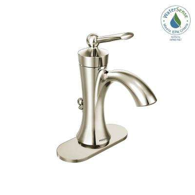 Wynford Single Hole Single-Handle High-Arc Bathroom Faucet in Polished Nickel