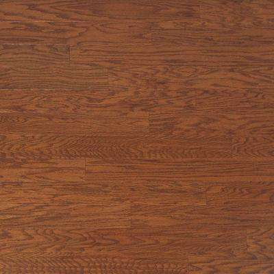 Take Home Sample - Scraped Oak Amaretto Engineered Click Hardwood Flooring - 5 in. x 7 in.