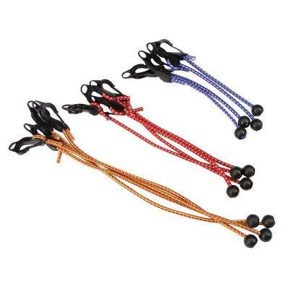 Adjustable Ball Anchor/Hook Tarp Bungee Cords (12-Piece)