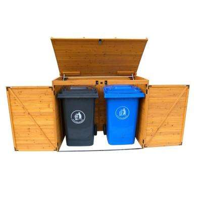 Cedar Large Horizontal Refuse Storage