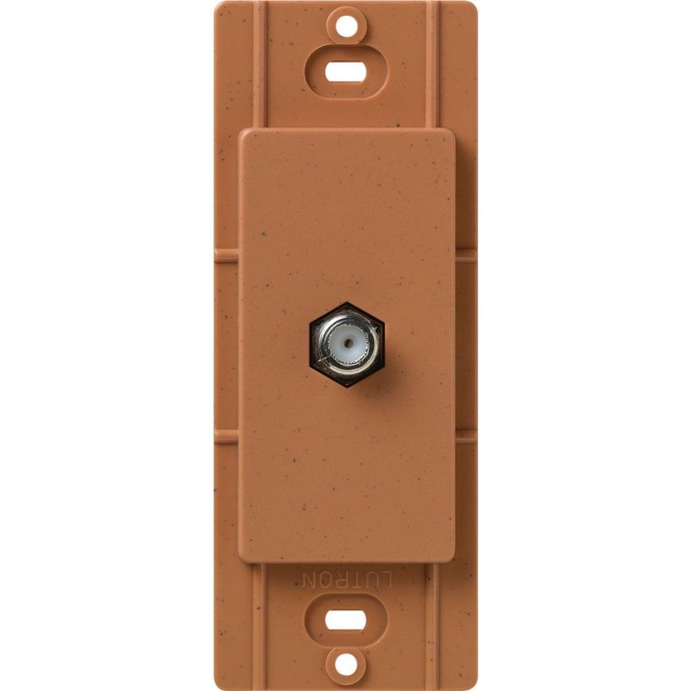 Lutron Satin Colors Coaxial Cable Jack - Terracotta