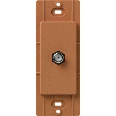 Satin Colors Coaxial Cable Jack - Terracotta