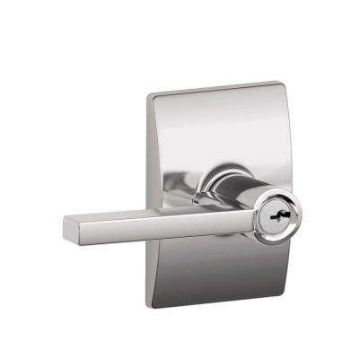 Century Collection Bright Chrome Latitude Keyed Entry Lever