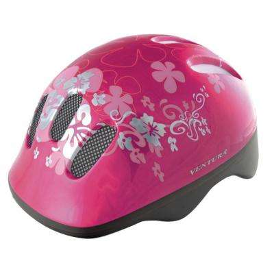 Pink Flower Children's Bicycle Helmet
