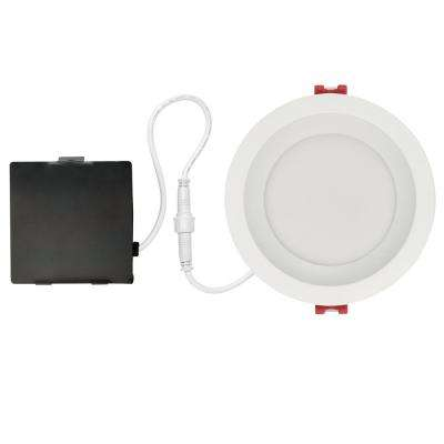 Designer  Slim Glare Control 4 in. White Integrated LED Recessed Kit
