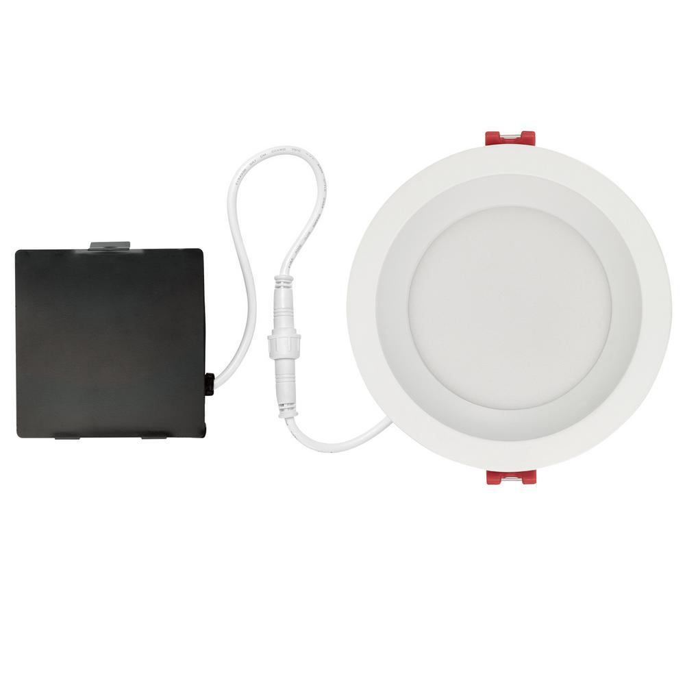 Designer  Slim Glare Control 4 in. White Integrated LED Recessed Kit