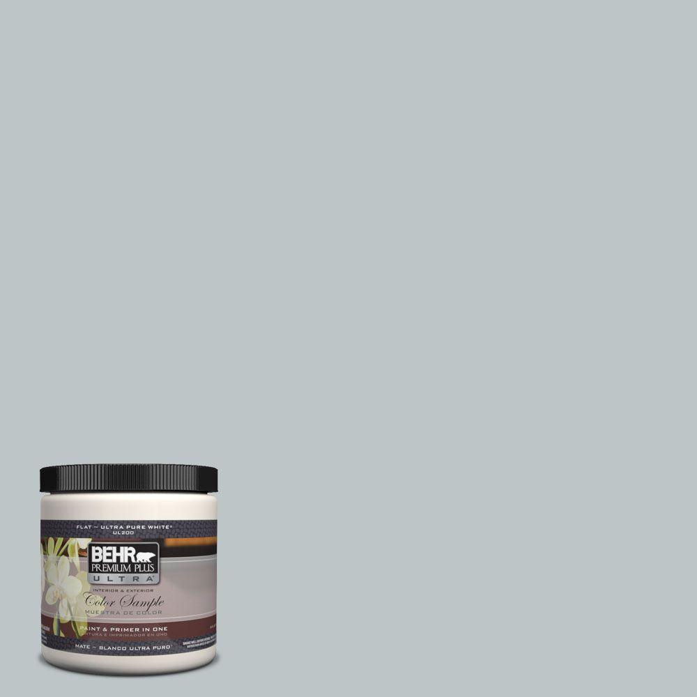BEHR Premium Plus Ultra 8 oz. #UL220-9 Misty Morn Interior/Exterior Paint Sample