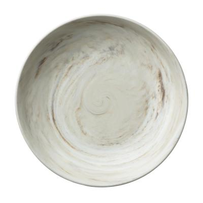 9 in. Marble Porcelain Deep Coupe Plates (Set of 12)