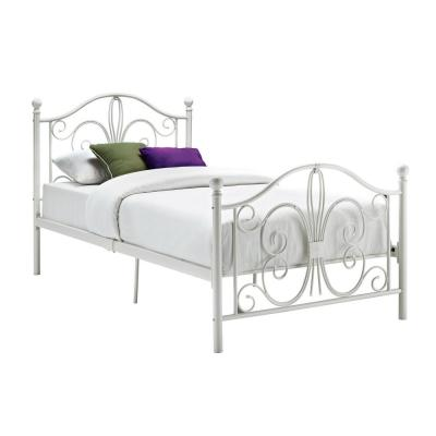 Bombay White Twin Bed Frame