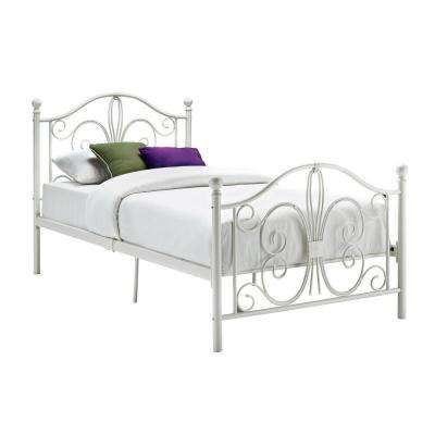 Wrought Iron Twin White Beds Headboards Bedroom Furniture