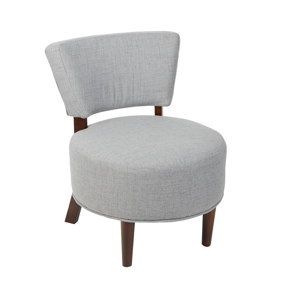 Silverwood molly modern gray armless occasional chair with round seat