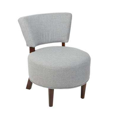 Molly Modern Gray Armless Occasional Chair with Round Seat