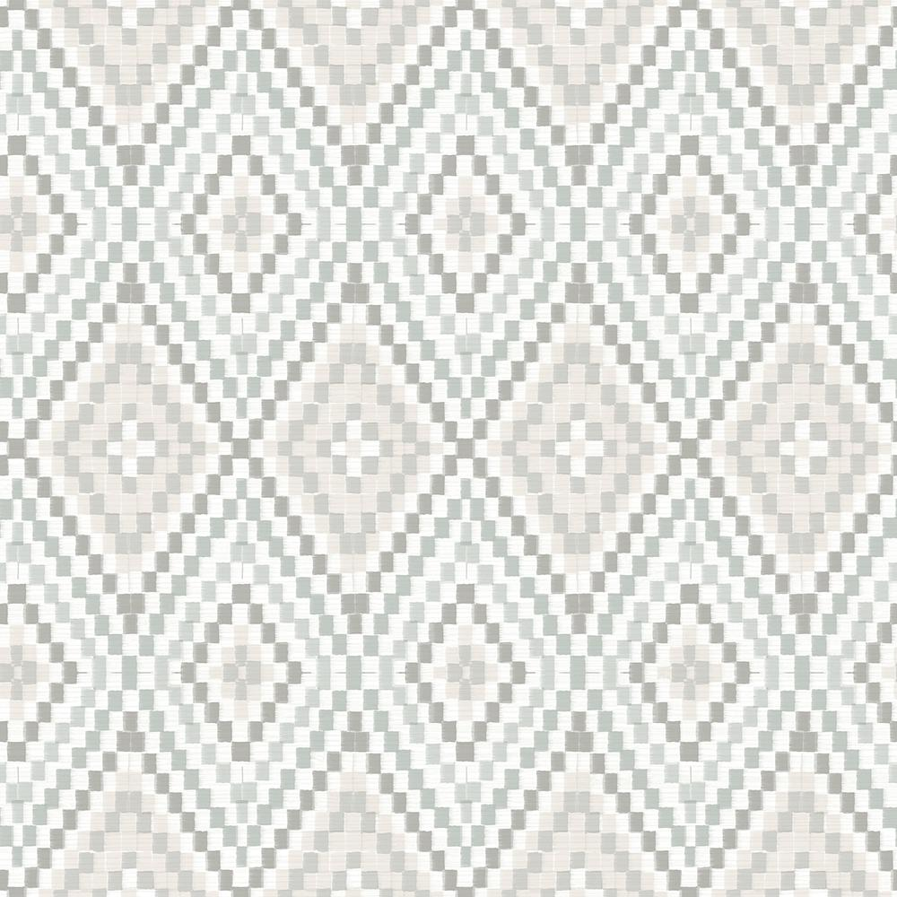 Ganado Grey Geometric Ikat Paper Strippable Roll (Covers 56.4 sq. ft.)