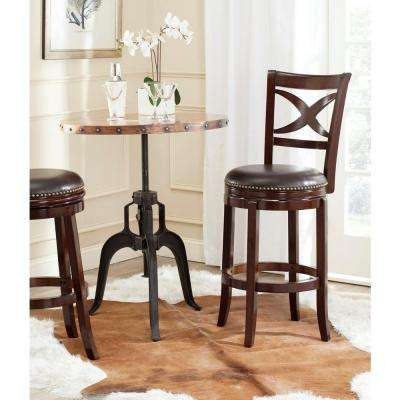Santino 29 in. Sierra Brown Swivel Cushioned Bar Stool