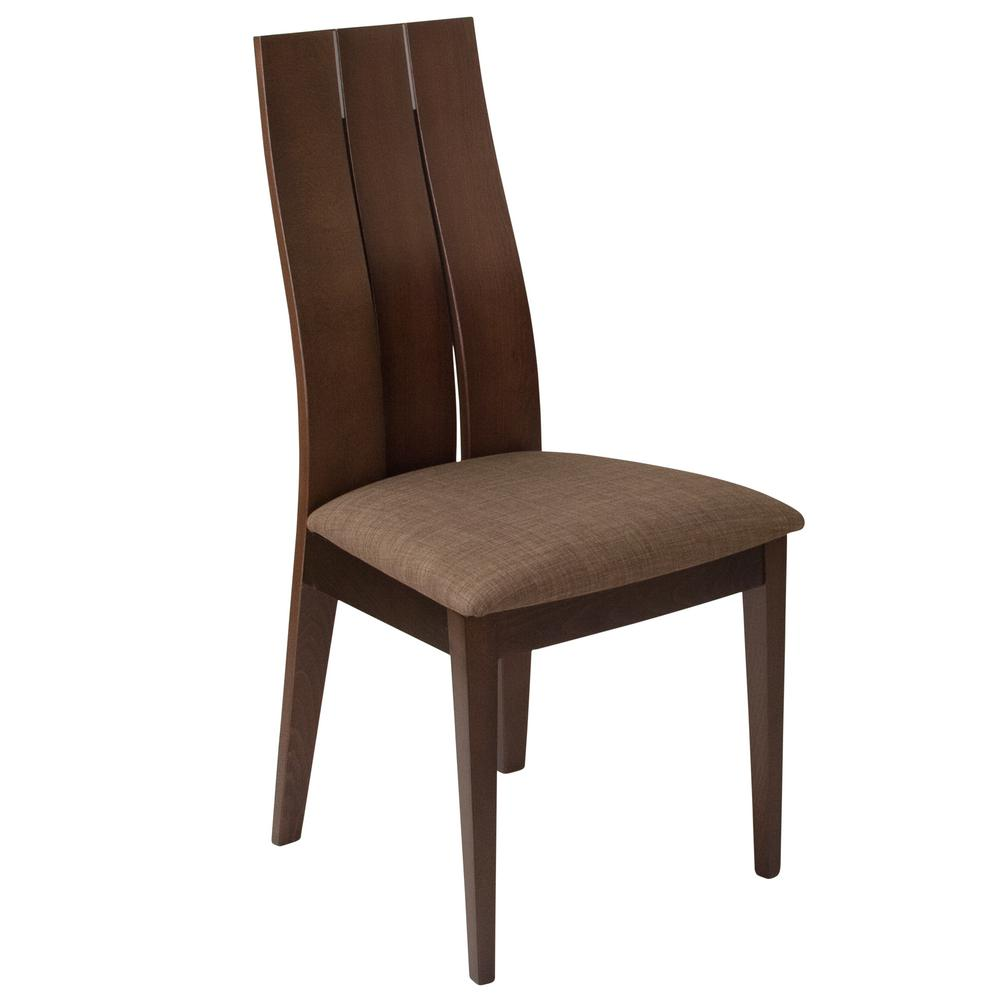 Hadley espresso side chair
