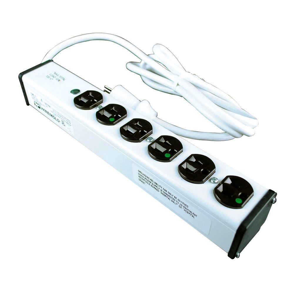 6-Outlet 20 Amp Medical Grade Power Strip, 15 ft. Cord