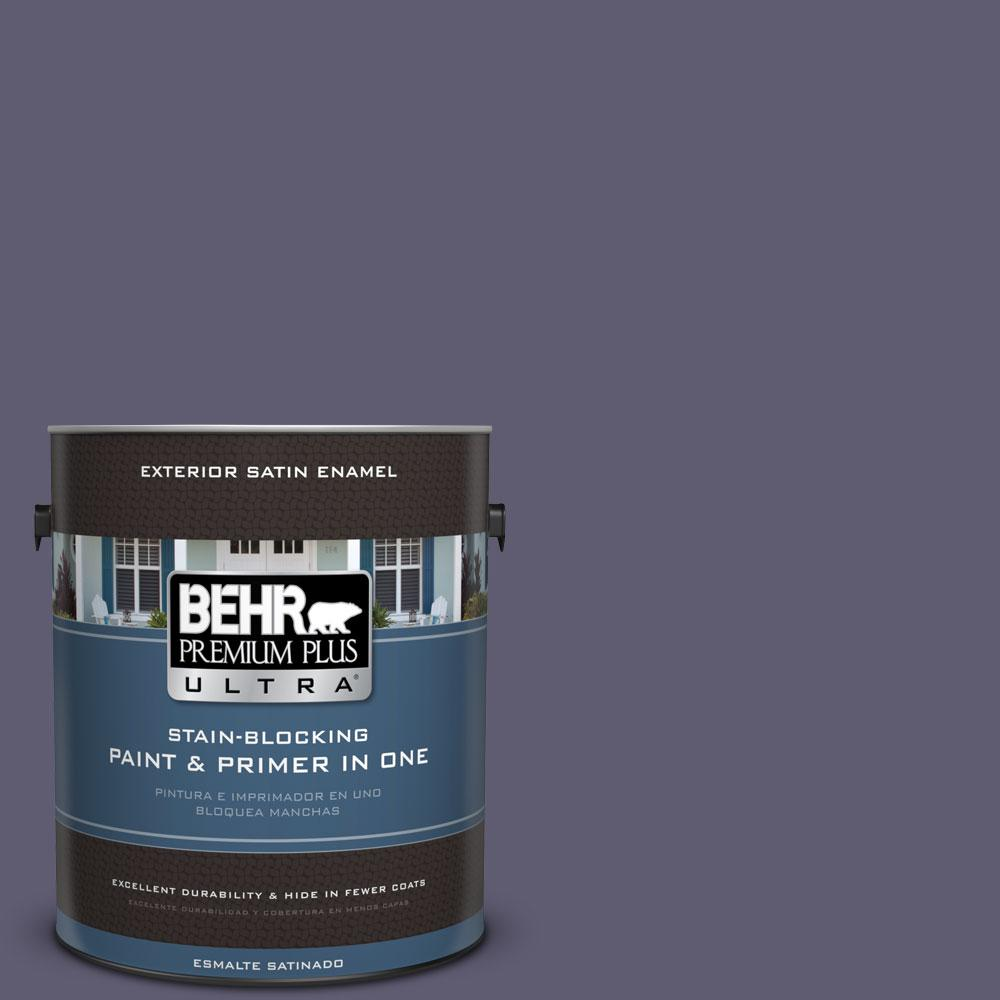 BEHR Premium Plus Ultra 1-gal. #PMD-90 Luscious Purple Satin Enamel Exterior Paint