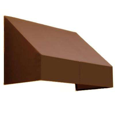 8 ft. New Yorker Window Awning (44 in. H x 24 in. D) in Terra Cotta