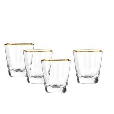 Dominion Gold 13 oz. Double Old Fashioned Glass (4-Piece Set)