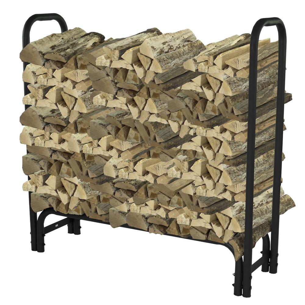 Pleasant Hearth 4 ft. Heavy Duty Firewood Rack