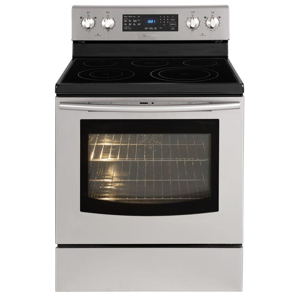 Samsung 5.9 cu. ft. Electric Range with Self-Cleaning Convection Oven in Stainless Steel