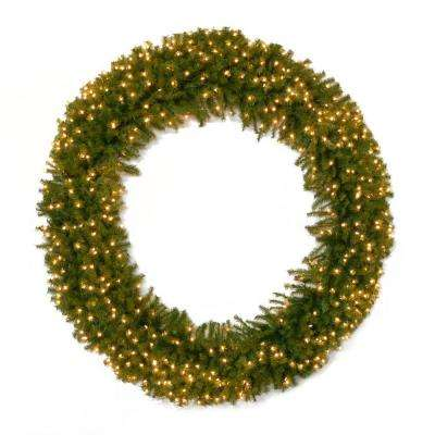 72 in. Norwood Fir Artificial Wreath with 450 Clear Lights