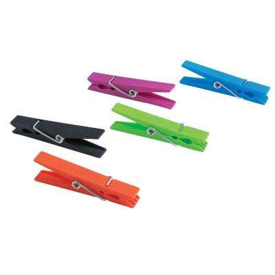 Plastic Colored Clothespins (30-Pack)