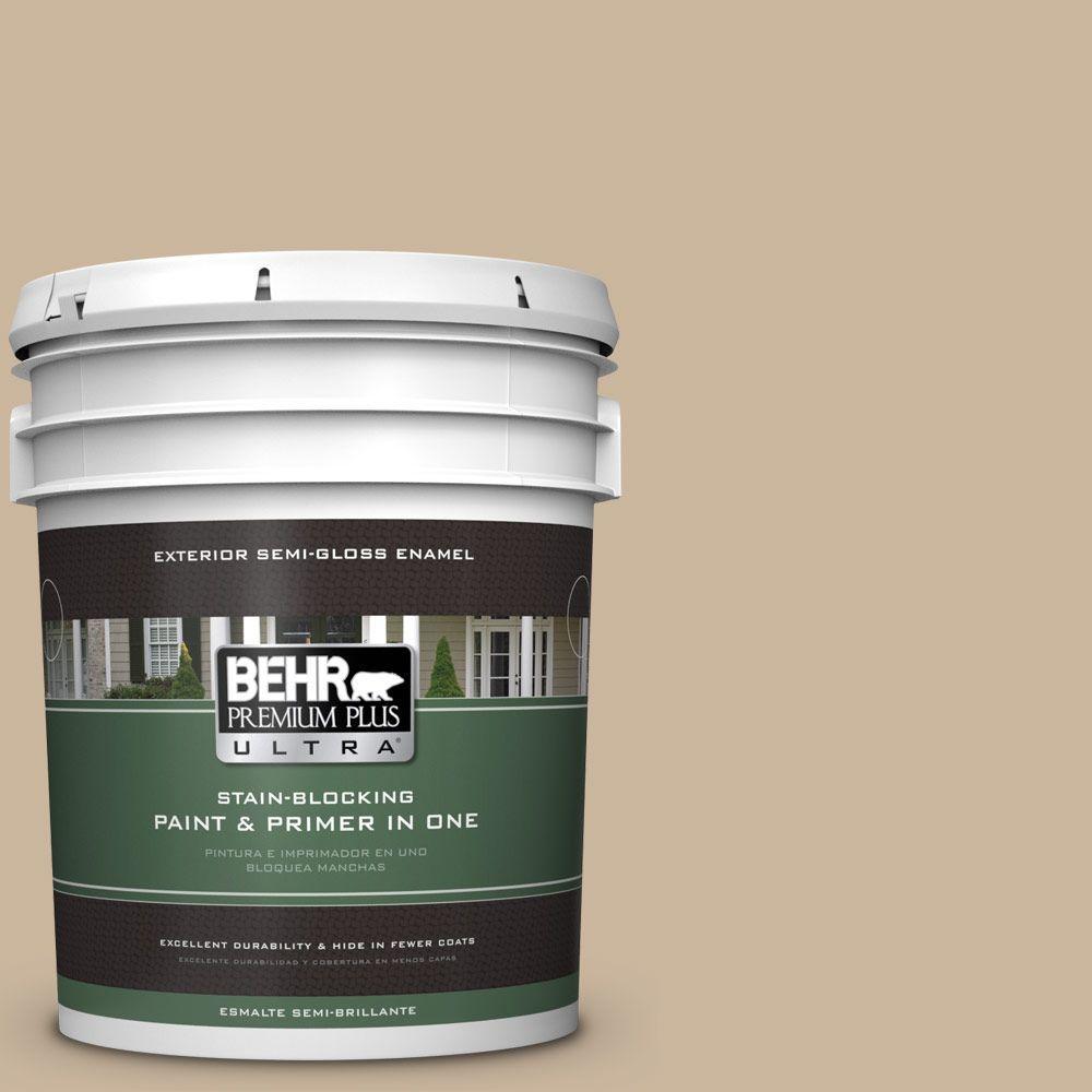 BEHR Premium Plus Ultra 5-gal. #PPU4-7 Mushroom Bisque Semi-Gloss Enamel Exterior Paint